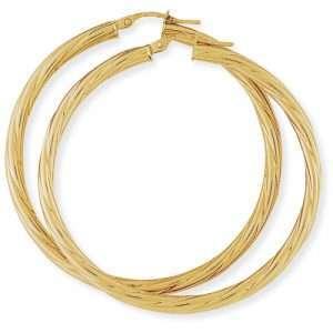 9ct Classic Twisted Hoop Earrings : 0654507