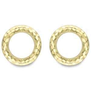 9ct Gold Circle Earrings : 0650550