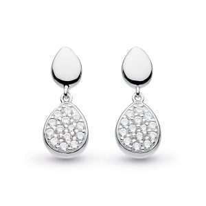 Kit Heath Coast Pebble Glisten Drop Earrings: 60188CZ029