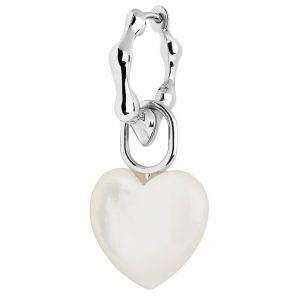 Maria Black Milla Huggie 11 with Mother of Pearl Heart Charm : 10082YG