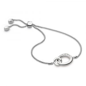 Kit Heath Bevel Cirque CZ Link Toggle Bracelet: 7152CZ
