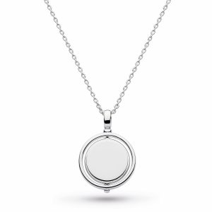 Kit Heath Revival Eclipse Round Spinner Necklace, Engravable : 90385