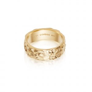 Daisy Isla Fossil Band, Gold Plated: