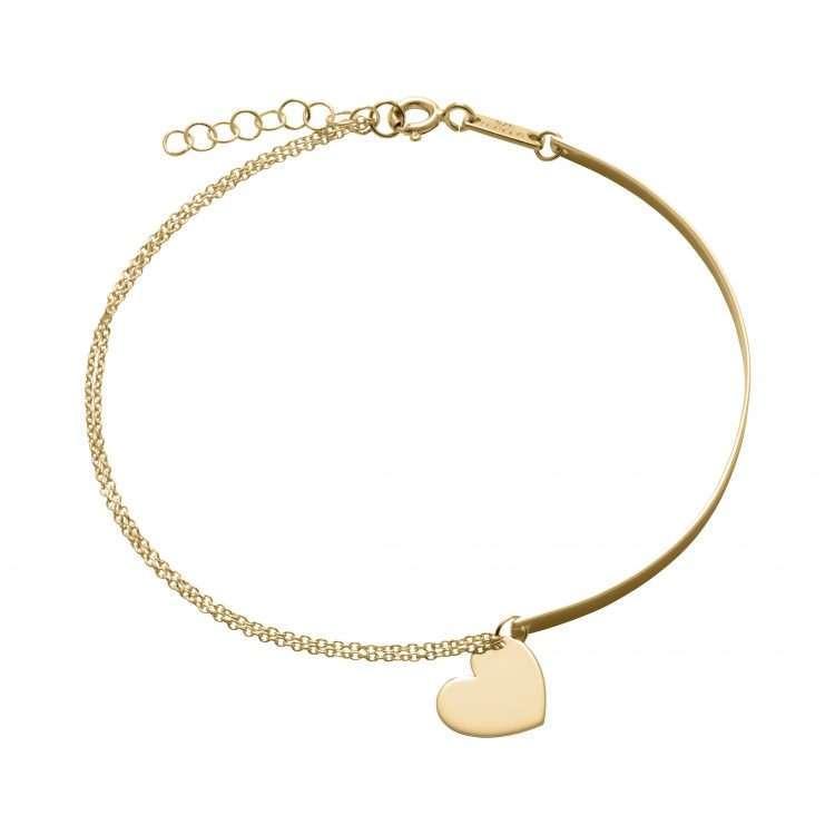 9ct Heart Bracelet : 1811317