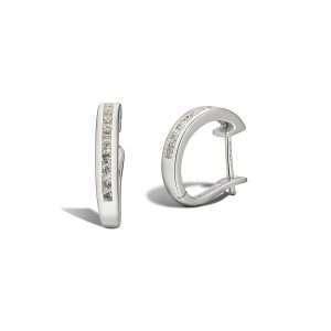 18ct Diamond Huggie Earrings : 0270030