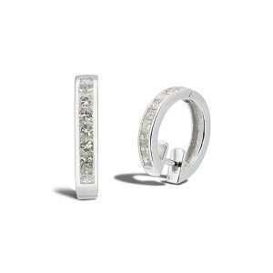 18ct Diamond Huggie Hoop Earrings : 0270029