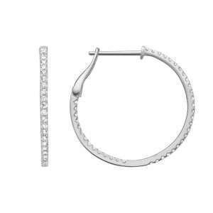 18ct Diamond Hoop Earrings