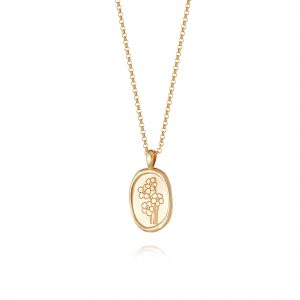 Daisy Forget Me Not Necklace, Gold Plated: FN02_GP