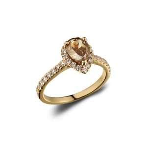 18ct Pear Shaped Chocolate Diamond Ring