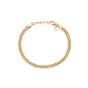 Daisy Double Rope Bracelet, Gold Plated: SBR01_GP