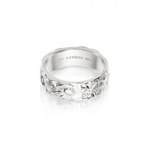 Daisy Isla Fossil Band, Sterling Silver