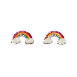 Girls Rainbow Studd Earrings