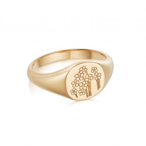 Daisy Forget Me Not Ring, Gold Plated: FR02_GP_M