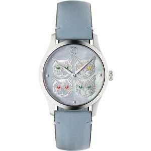 Gucci G-Timeless Blue Cats Watch : YA1264124