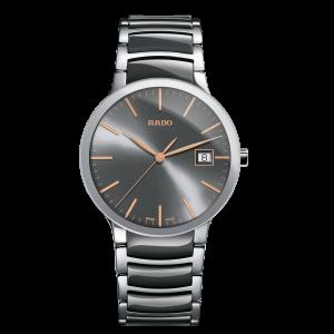 Rado Centrix White & Grey, Rose Accents Watch: R30.927.13.2